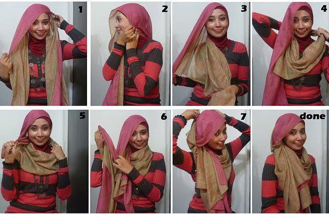 gaya model jilbab masa kini